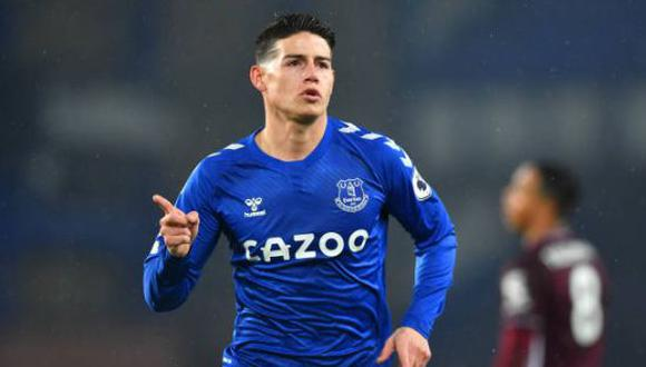 James Rodríguez confirmó la fecha para volver con Everton en la Premier League. (Foto: Getty Images)