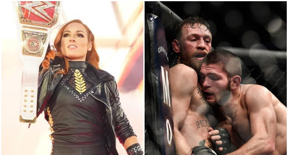 Becky Lynch eligió al ganador de posible revancha entre Conor McGregor y Khabib en UFC. (WWE/Getty Images)