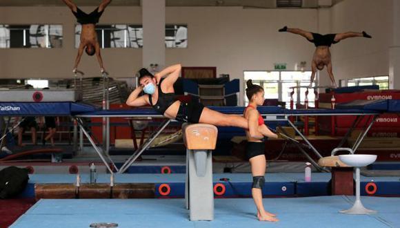 Seleccionados de gimnasia artística entrenaron en la Videna antes de viajar a Brasil. (Legado Lima 2019)