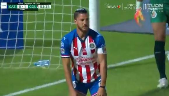 Así fue el gol de autogol de Hiram Mier en el Chivas vs. Cruz Azul. (Video. Copa GNP México)