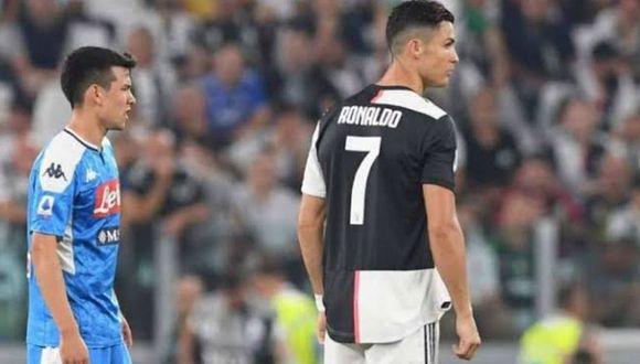 'Chucky' Lozano se estrenó con gol en el Napoli en el duelo ante la Juventus. (Foto: Facebook Napoli)