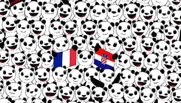 Hay una pelota de fútbol escondida entre los pandas y debes hallarla. (Foto: dudolf.com)