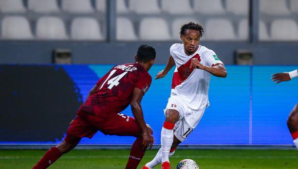 André Carrillo tiene 9 partidos y 782 minutos en las Eliminatorias a Qatar 2022 (Foto: Fernando Sangama / @photo.gec)