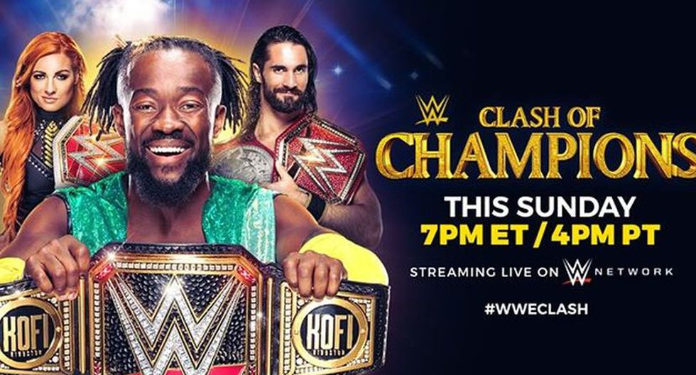 Aviso para promocionar el WWE Clash of Champions 2019. (Foto: WWE)