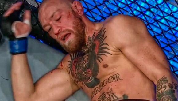 Dustin Poirier finalizó a Conor McGregor en el segundo asalto. La pelea correspondió a UFC 257 y se realizó en Abu Dabi. (Foto: captura de Video/ESPN)