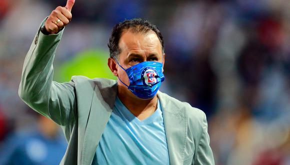 Juan Reynoso consiguió el título de la Liga MX que Cruz Azul no obtenía desde 1997 (Foto: AFP)