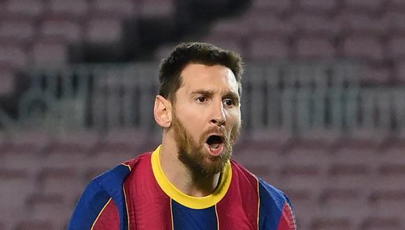 Lionel Messi acaba contrato con el Barcelona dentro de dos meses. (Foto: AFP)