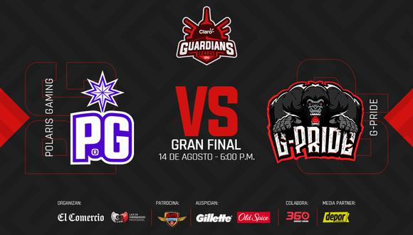 Polaris Gaming se enfrentará a G-Pride este viernes 14 por la final de la Claro Guardians League. (Difusión)