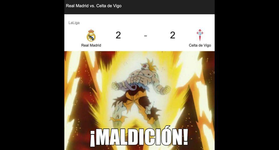 Los mejores memes del empate entre Real Madrid y Celta de Vigo por LaLiga Santander. (Foto: Facebook)