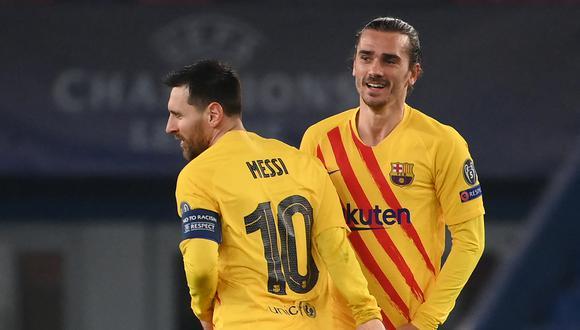 Antoine Griezmann minimizó el penal fallado por Lionel Messi ante PSG. (Foto: AFP)