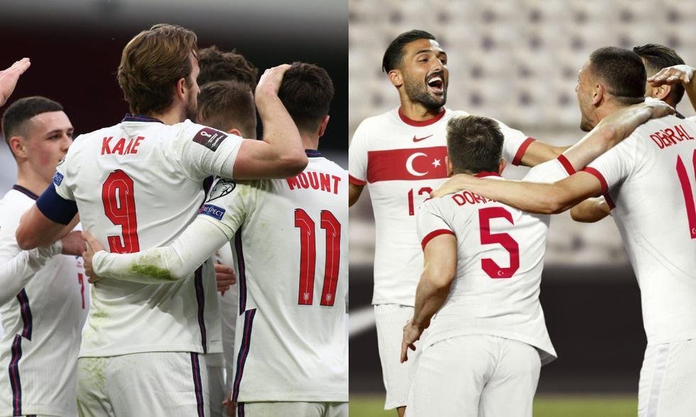 Inglaterra y Turquía son la selecciones más jóvenes de las Eurocopa 2021. (Fotos: Agencias)