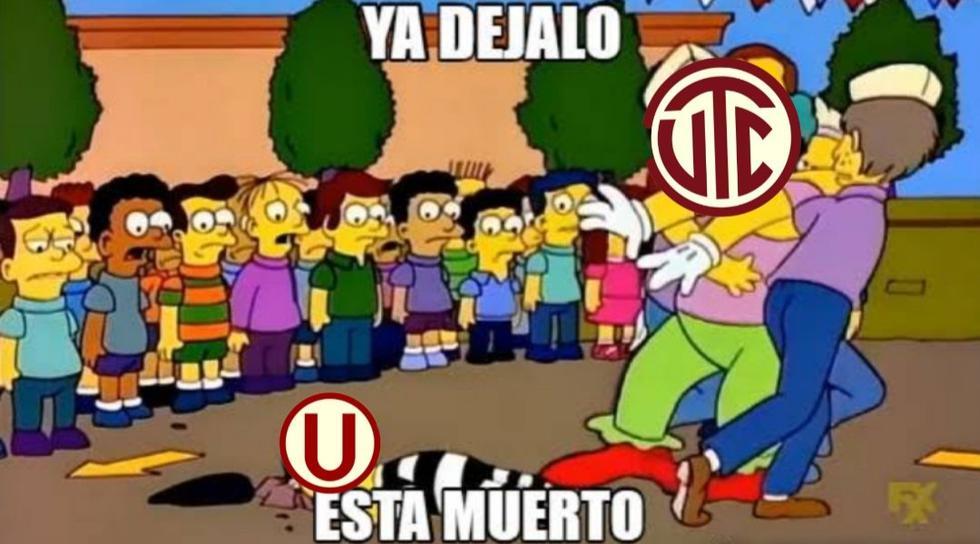 Universitario víctima de memes tras perder 6-1 con UTC (Fotos: Facebook)