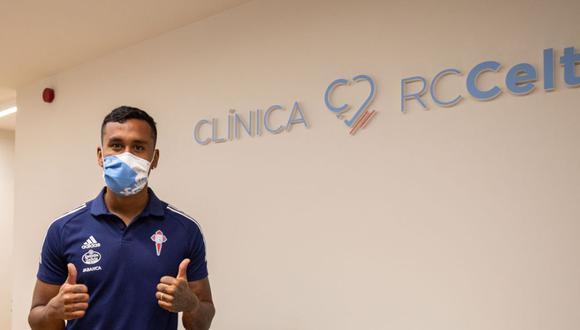 Renato Tapia arregló con el Celta de Vigo por cuatro temporadas. (Celta de Vigo)