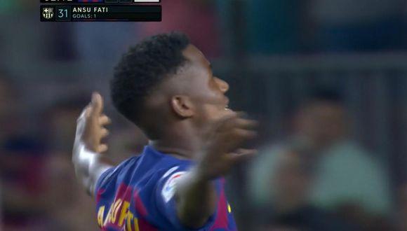 Ansu Fati fuso el 1-0 en el Barcelona vs. Valencia por Liga Santander. (LaLiga)