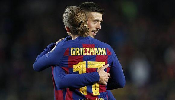 Clement Lenglet defiende a Antoine Griezmann por la mala racha que pasa en el Barcelona. (Getty)