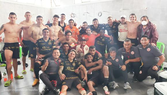 La 'U' celebró por partida doble tras su triunfo ante Binacional. (Foto: Universitario)