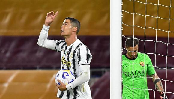 Cristiano Ronaldo marcó dos goles en empate de Juventus ante Roma. (AFP)