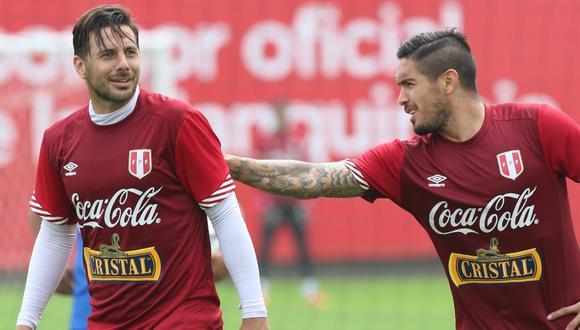 Claudio Pizarro y Juan Manuel Vargas se reencontraron. (Foto: FPF)