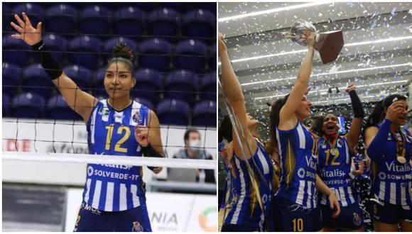 Carla Rueda salió campeona con FC Porto en la Liga de Vóley de Portugal. (Porto)