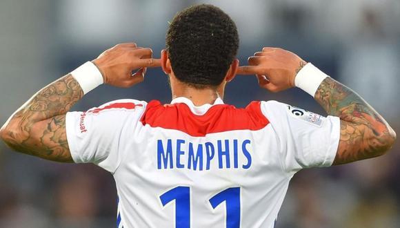 Memphis Depay acaba contrato con el Lyon en junio de esta temporada. (Foto: AFP)