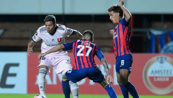 San Lorenzo venció 2-0 a la U. de Chile y selló su pase a la fase 3 de Copa Libertadores. (Foto: Copa Libertadores)