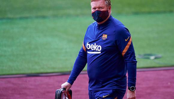 Ronald Koeman llegó al Barcelona en reemplazo de Quique Setién. (Getty)