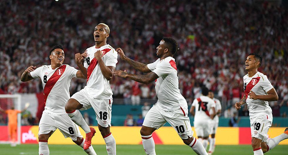 André Carrillo anotó el primer gol de Perú como vigente selección mundialista en 2018. (Foto: Getty Images)