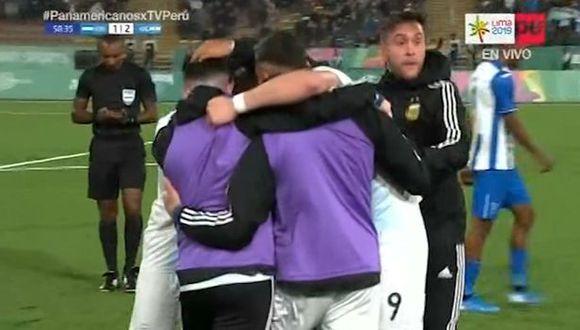 Argentina tardó poco más de dos minutos para sacarle dos goles de ventaja a Honduras. (Captura: TV Perú)