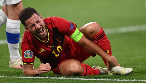Eden Hazard sufrió un golpe en el tobillo operado en el duelo ante Finlandia. (Foto: Reuters)