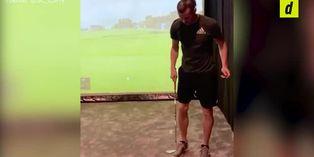 Gareth Bale mezcló fútbol y golf para superar nuevo 'challengue'