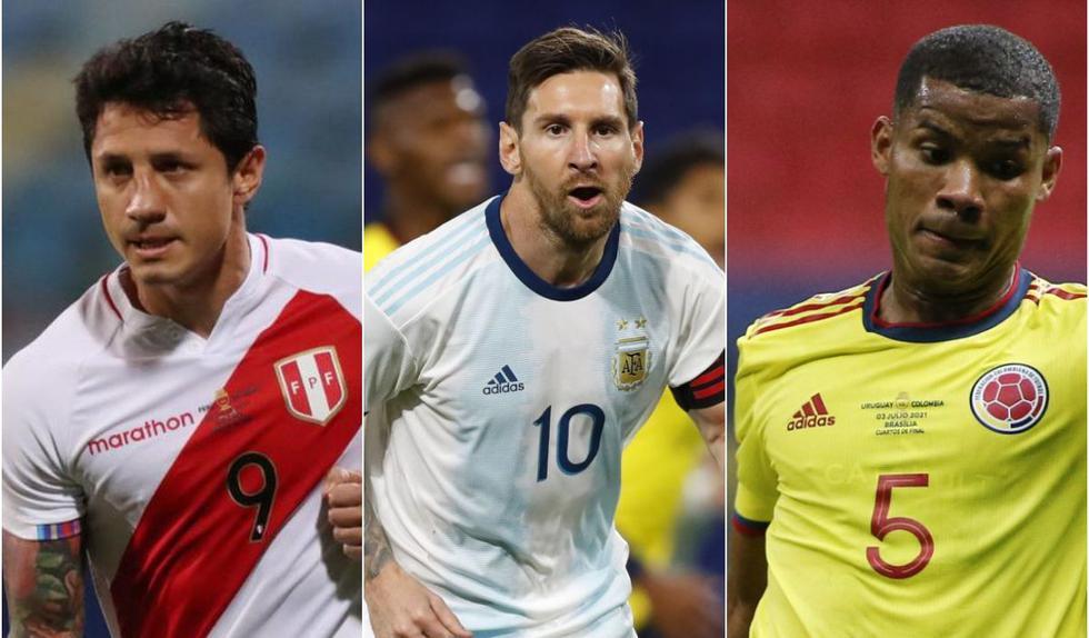 El once ideal de los cuartos de final de Copa América. (Foto: Agencias)