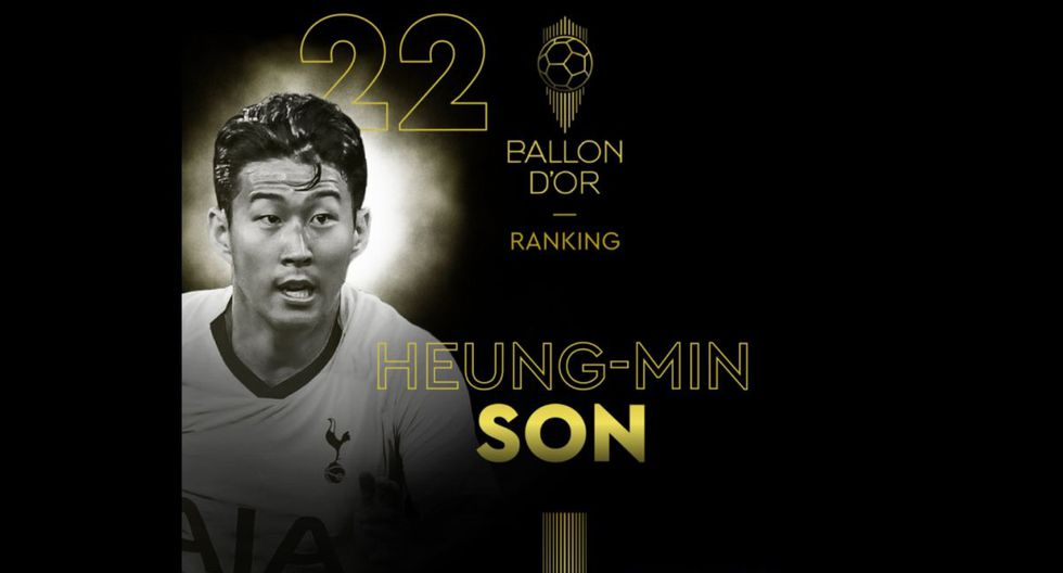 Son Heung-Min   Tottenham. (Foto: @francefootball)