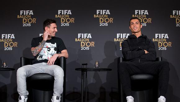 Lionel Messi y Cristiano Ronaldo suman juntos once Balones de Oro. (Getty)