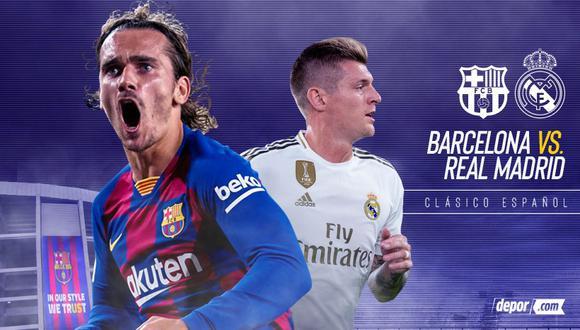 Real Madrid vs. Barcelona: horarios y canales por Clásico de España. (Foto: Depor)