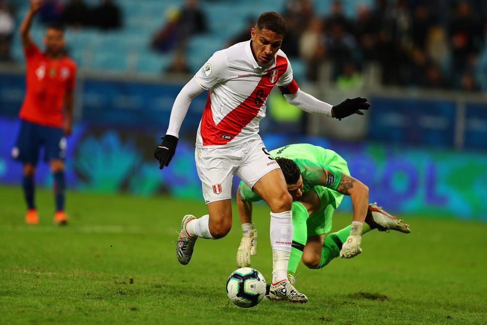 Nuestro último triunfo ante la selección chilena lo conseguimos el 3 de julio del 2019, en un partido validó por la Copa América y el resultado fue 3–0 a favor de la bicolor con goles anotados por Paolo Guerrero, Edison Flores y Yoshimar Yotún. (Foto GEC Archivo)