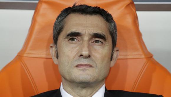 Ernesto Valverde es entrenador del Barcelona desde el 2017. (Getty)