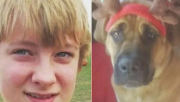 Wyatt y su perro Duke fueron encontrados muertos dentro de un vehículo. La escena fue desgarradora pues el pequeño de 13 años estaba abrazado a su mascota.| Foto: Familia Tofte