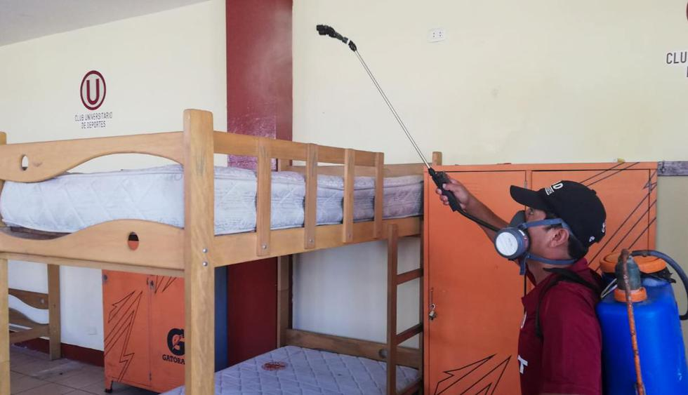 Universitario de Deportes toma medidas de prevención contra el coronavirus. (Foto: @Universitario)
