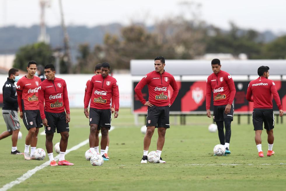 Entrenamiento de la selección peruana en el Centro del Club Atlético Goianiense. COPA AMERICA 2021. (Foto: Jesús Saucedo / @photo.gec)