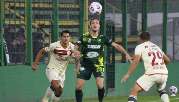 Defensa y Justicia venció 3-0 a Universitario en el Norberto Tomaghello por la fecha 2 de fase de grupos de Copa Libertadores (Foto: @ClubDefensayJus)