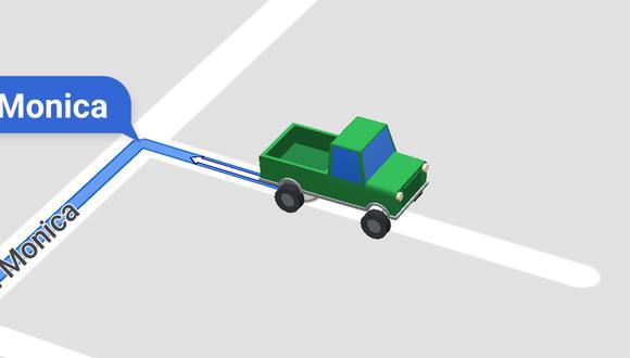 Así puedes cambiar la tradicional flecha azul por un carrito de color. (Foto: Google Maps)