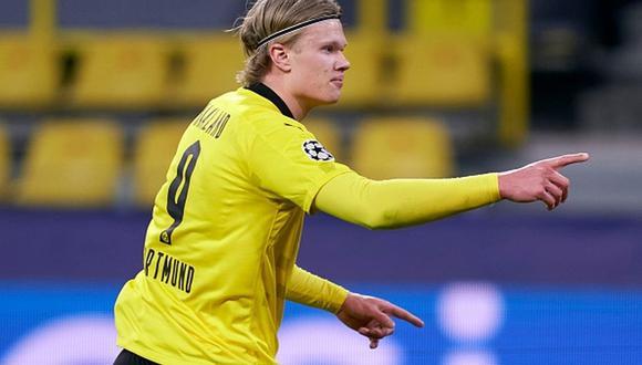 En Borussia Dortmund se pronunciaron sobre la reunión en Barcelona por Erling Haaland. (Foto: Getty Images)