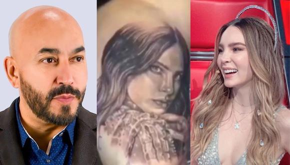 El tortuoso proceso que vivió Lupillo Rivera para quitarse el tatuaje de Belinda. (Foto: @lupilloriveraofficial/@belindapop).