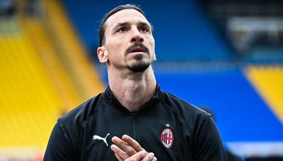 Ibrahimovic termina contrato con AC Milan a mediados del 2021. (Foto: AFP)