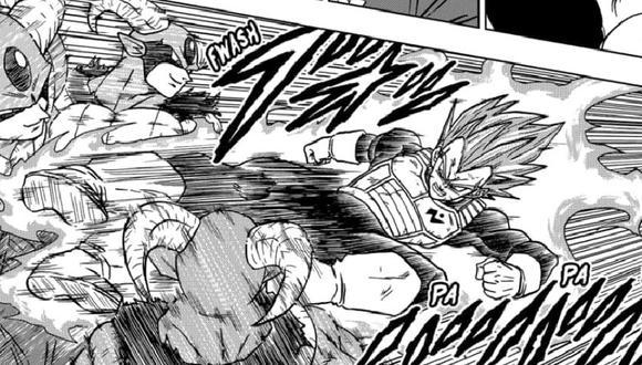 La pelea entre Moro y Vegeta (Dragon Ball Super)