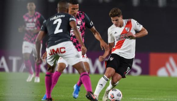 River Plate venció 2-1 a Santa Fe en la penúltima jornada de la Copa Libertadores. (Foto: Twitter)