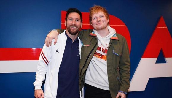 Lionel Messi se encontró con Ed Sheeran tras la victoria del PSG. (Foto: Instagram @leomessi)