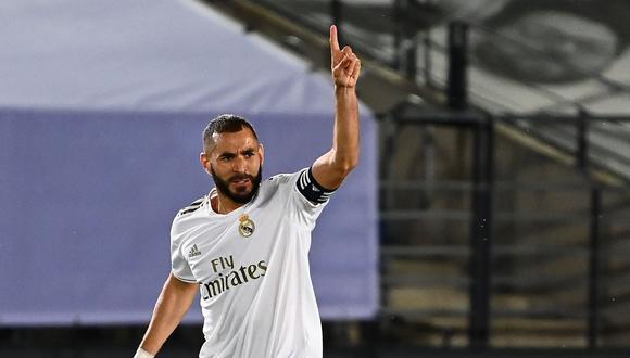 Karim Benzema anotó 21 goles esta temporada. (Foto: AFP)