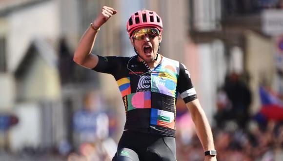 Giro de Italia 2021: local Alberto Bettiol ganó la Etapa 18 entre Rovereto y Stradella. (Twitter)