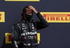 """""""Casi se me para el corazón"""": Hamilton narra la pesadilla que vivió al ganar la carrera con una llanta pinchada"""